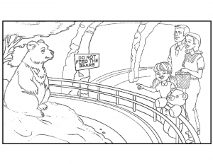 A Bear Like You! Coloring Page-min
